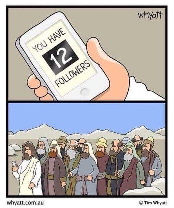 Funny Meme Cartoon : If jesus were on social media christian funny