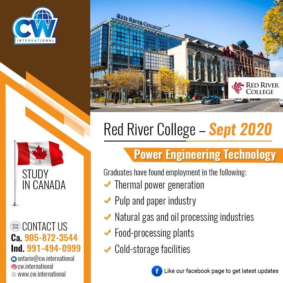 Study in Canada Red River College Sept 2020 in 2020