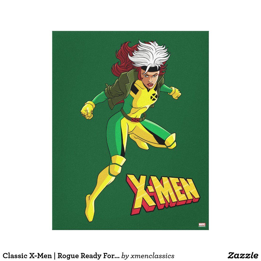 Classic X Men Rogue Ready For Battle Canvas Print Zazzle Com In 2021 Retro Canvas Art Canvas Prints Canvas Art Prints