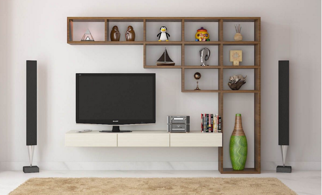 7 cool contemporary tv wall unit designs for your living for Long kitchen wall units