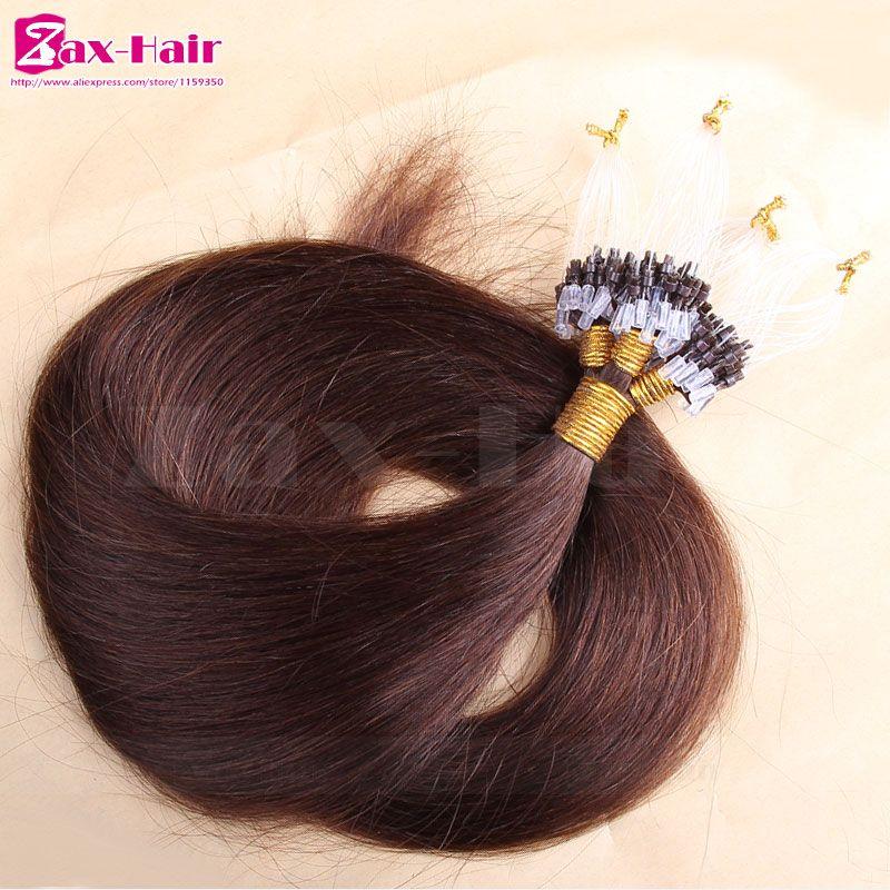 Micro Loop Hair Extensions Straight 6 Micro Loop Ring Hair