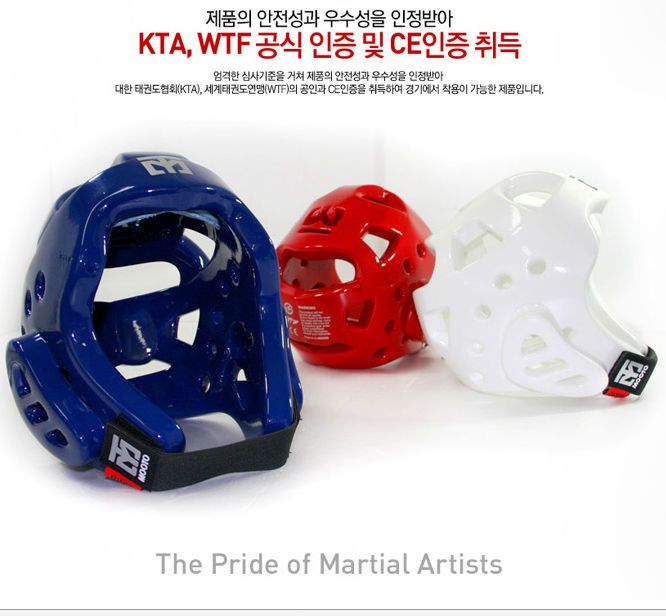 Mooto WTF EXTERA TAEKWONDO Head Gear Wide View Korean Tae Kwon Do 3color 1ea