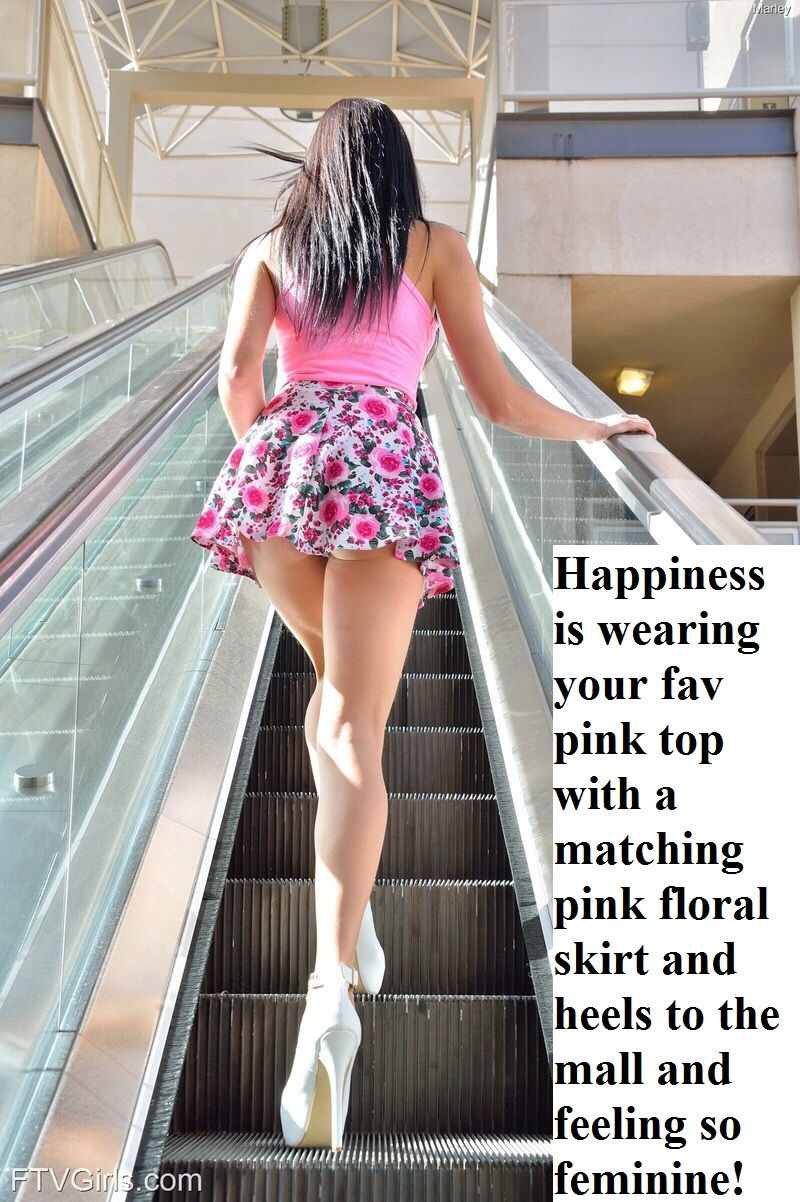 Pink sissy captions