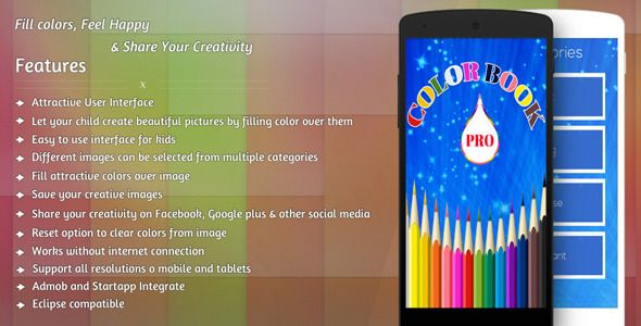 Color Book Pro Coloring Book App Coloring Books App Template Design
