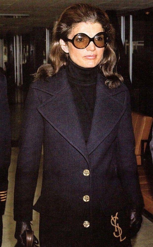 Jackie O in a YSL Coat