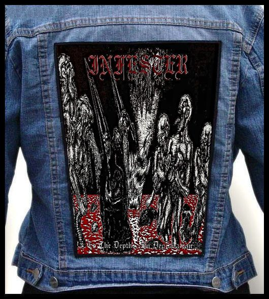 INFESTER - To the Depths, in Degradation --- Huge Jacket Back Patch