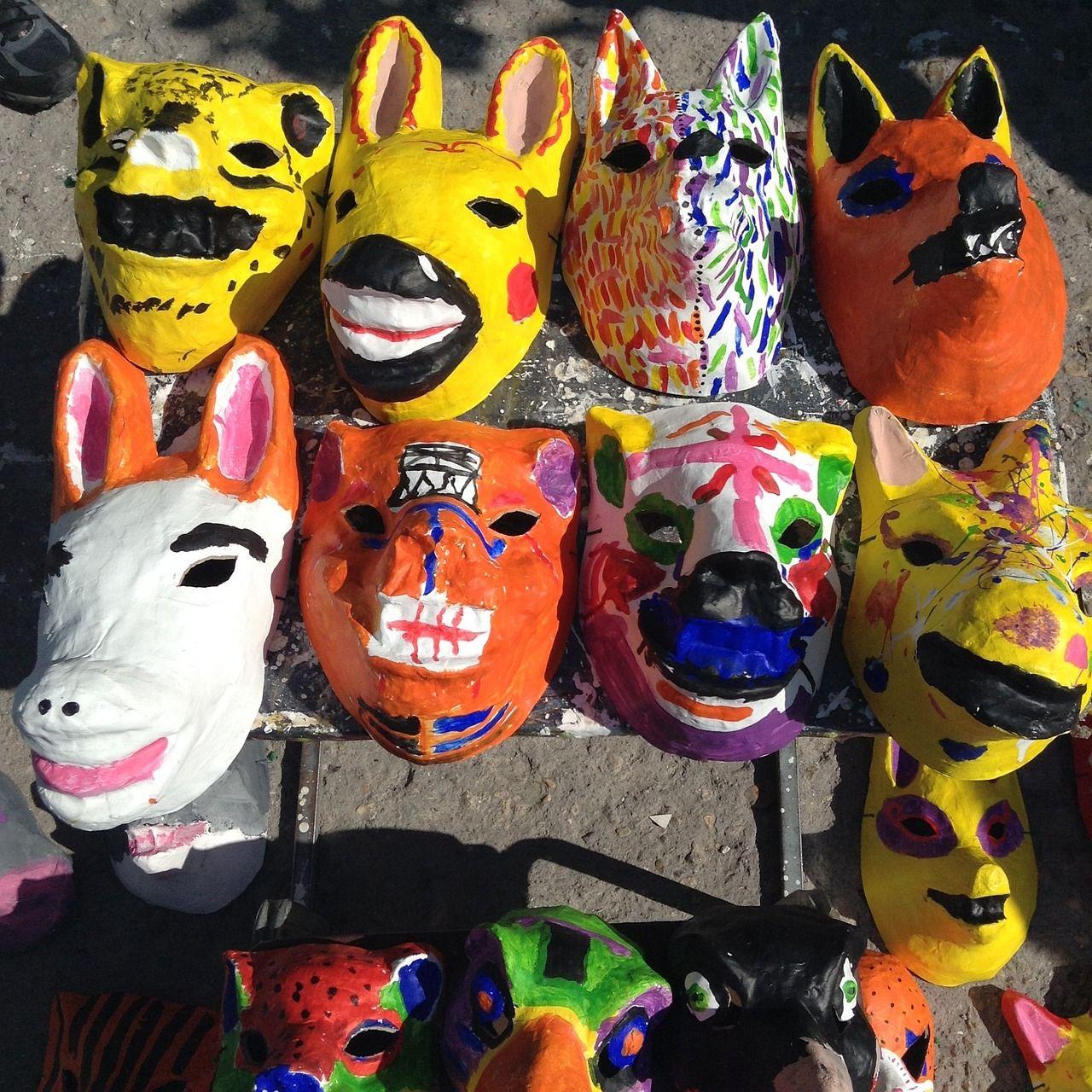 mÁscaras de animales de papel maché | màscares i capgrossos