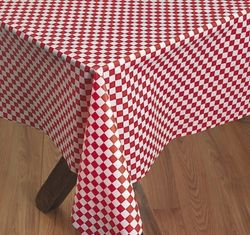 Checkered Red White Tablecloth Plastic This Red White