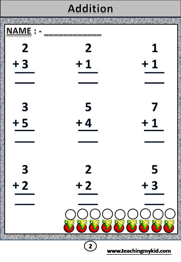 Addition Sum Of Two 1 Digit Numbers Without Carry Archives Teaching My Kid Math Addition Common Core Worksheets Math Worksheets