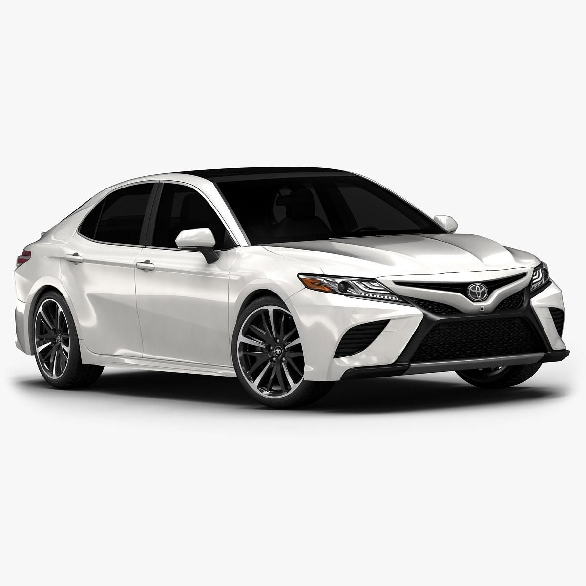 2018 Toyota Camry (Low Interior) 3D Model AD ,Toyota