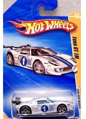 Hot Wheels 2009 039 New Models Ford Gt Lm White 1 64 Scale By