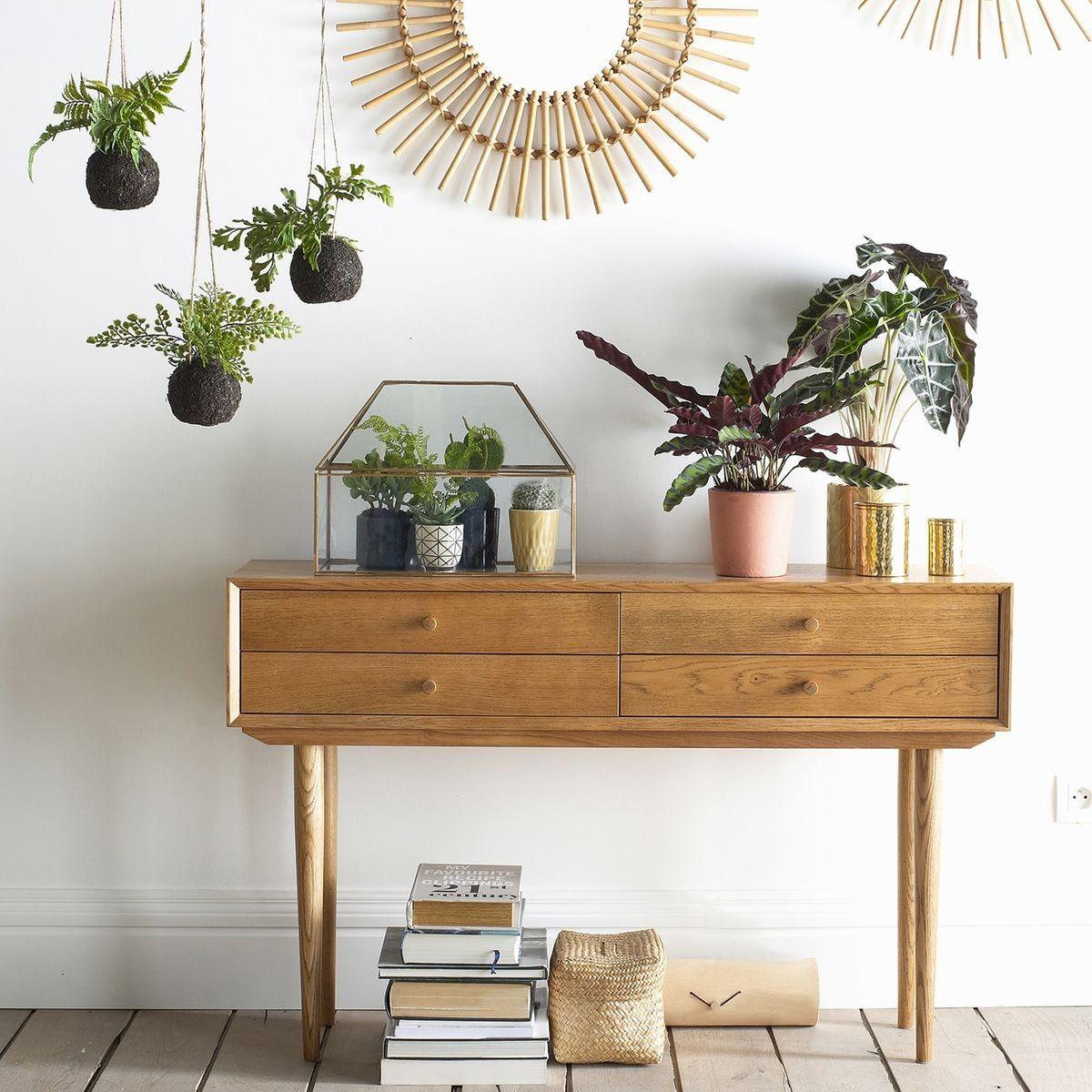 pour votre entr e une console en ch ne massif tr s ann e 70 un style vintage elle se marie. Black Bedroom Furniture Sets. Home Design Ideas