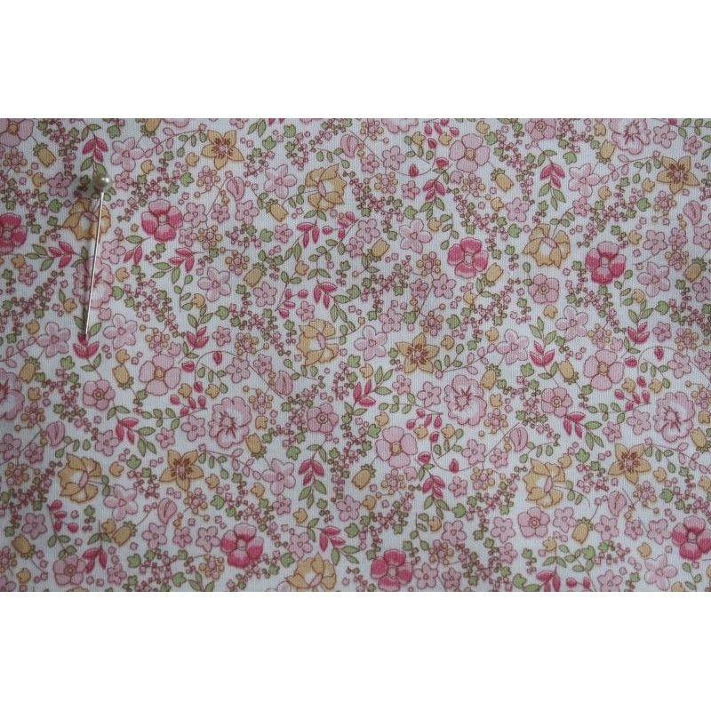artesanía acolchado Azul Rosa Rosa grupo 100/% Tela De Algodón Ideal para ropa