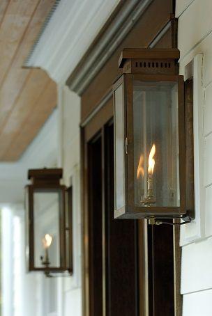 The Single House Copper Lantern By Carolina Lanterns Garage Lighting Front Door Lighting Porch Lighting