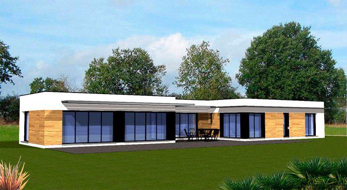 plan maison contemporaine plain pied | arquitectura | Pinterest ...
