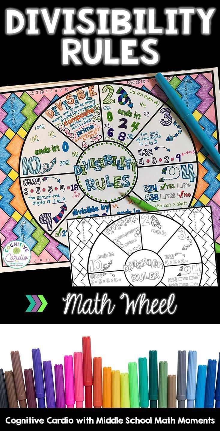 Divisibility Rules Math Wheel Divisibility rules, Math