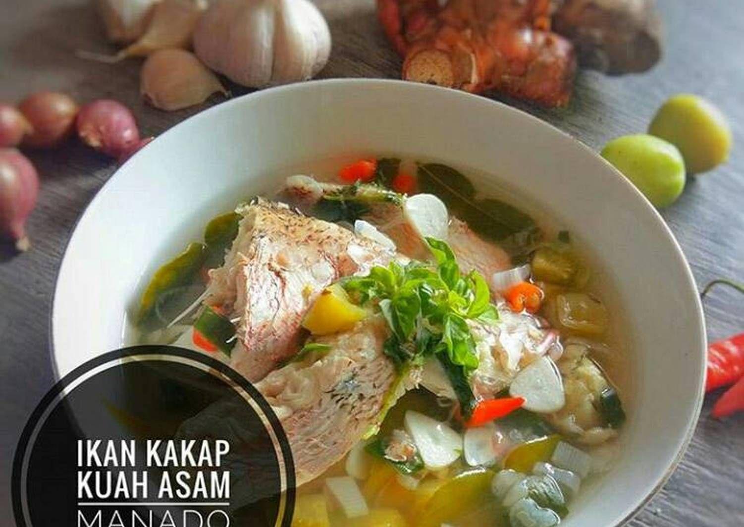 Resep Ikan Kakap Kuah Asam Manado Oleh Bundanya Nabilah Resep Resep Ikan Resep Masakan Sehat Resep