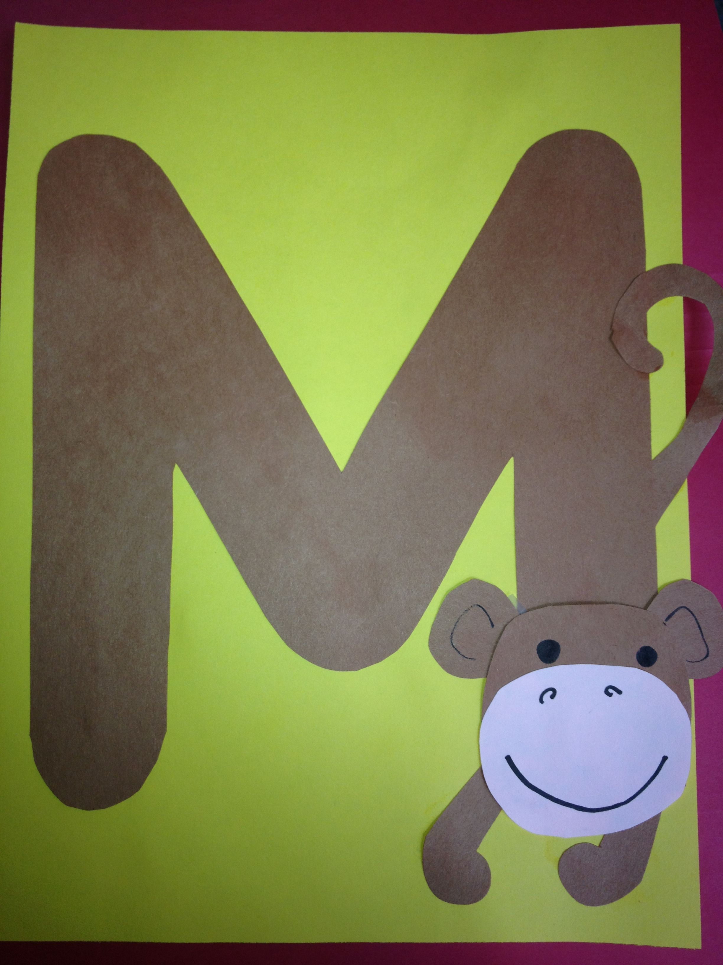 Letter M Craft Preschool Map