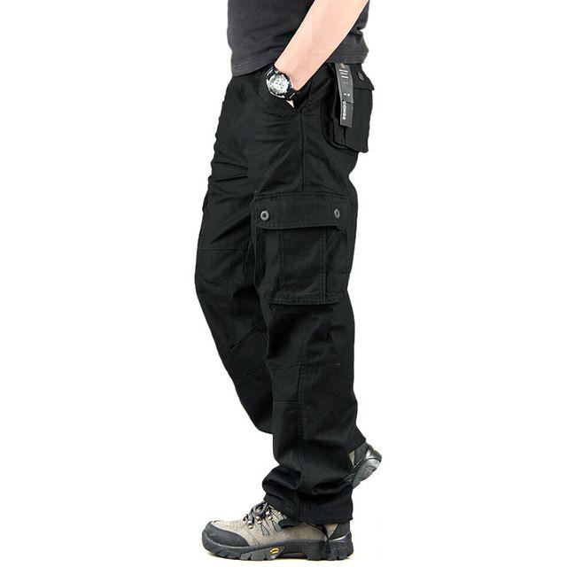 ab767a1b5 Pantalones Cargo Casual para hombre Pantalones multibolsillos ...