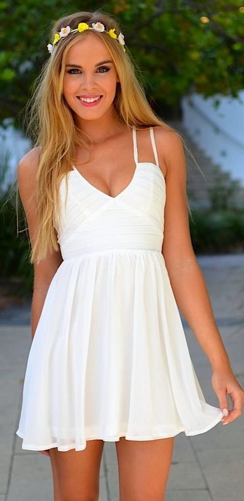 Cute Simple White Dresses