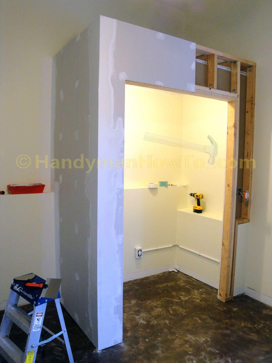 Basement Closet: Finished Drywall Corner Bead | Pantry | Pinterest ...