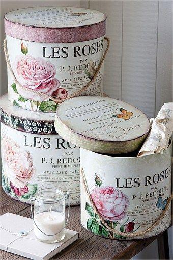 Storage Les Rose Hat Box Set Ezibuy New Zealand Vintage Hat Boxes Decoupage Box Hat Boxes