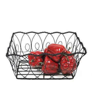 Another great find on #zulily! Black Wire Rectangle Basket #zulilyfinds