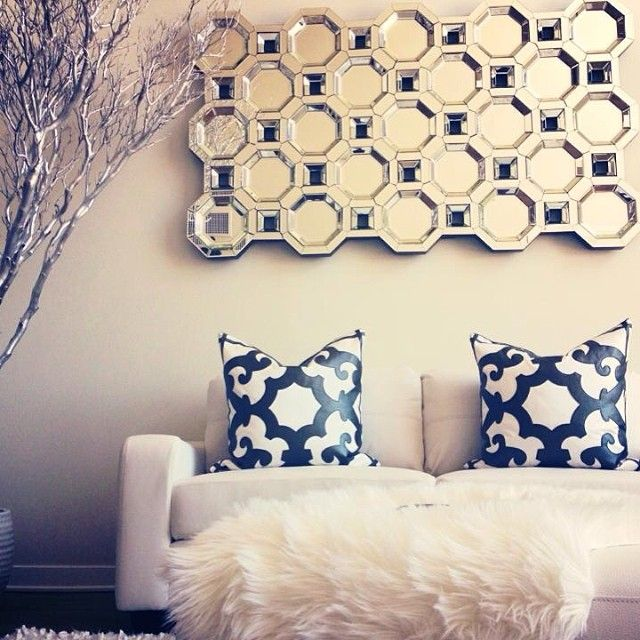Our Axis Floor Mirror U0026 Boulevard Pillows Maximize Glamour In  @catherinealexanderru0027s ... Nice Design