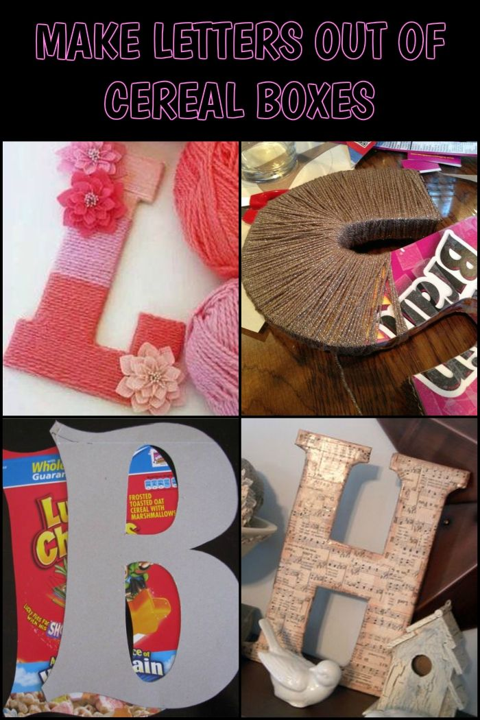Learn How To Make Big Letter Decor Using Cereal Boxes Cereal Box Craft Diy Letters Cardboard Diy Letters