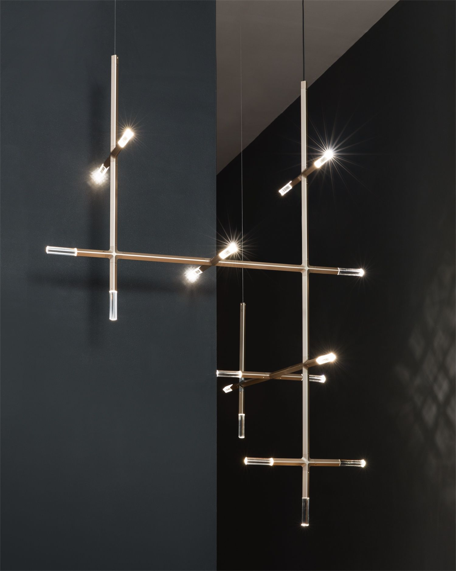 Meet Jax A Modular Chandelier Crafted From Anodized