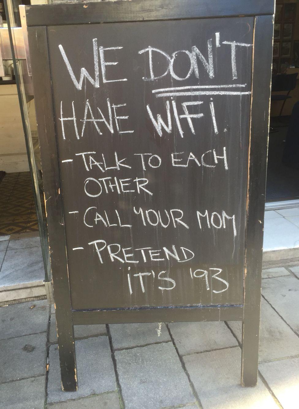 Sign outside cafe in Bratislava...made me smile.
