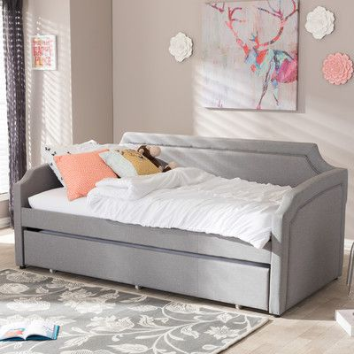 Alcott hill kingswood daybed with trundle finish gray