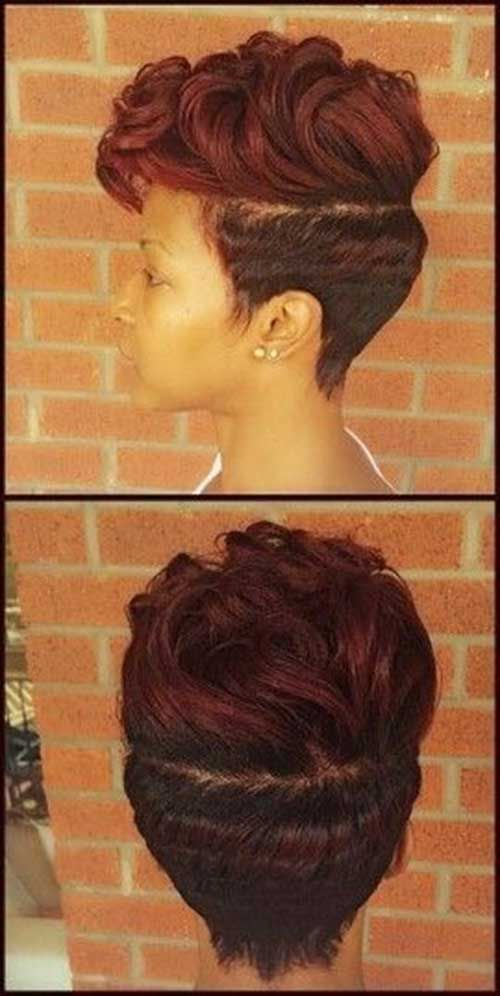 Cute Red Colored Black Short Hairstyles  Hair Styles  Pinterest