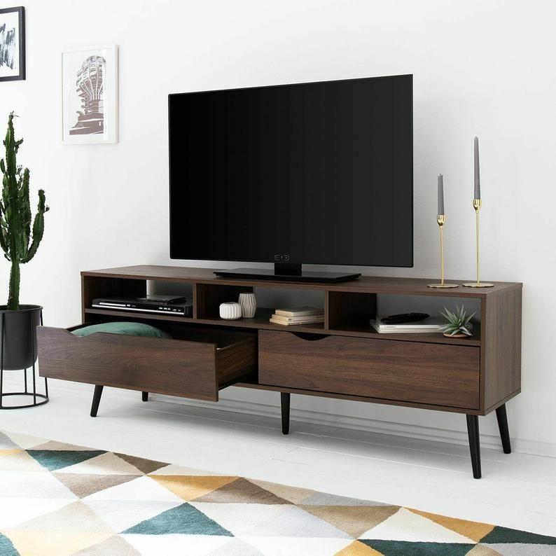 Retro Scandinavian Tv Stand Walnut Large Entertainment Unit Modern Tv Table Modern Large Tv Cabinet Uk Tv Table Storage Unit Modern In 2020 Wooden Tv Stands Home Decor Scandinavian Tv Stand
