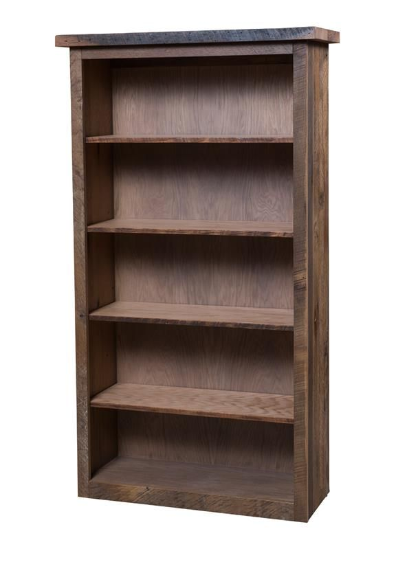 Reclaimed Barn Wood Bookcase With Adjustable Shelves