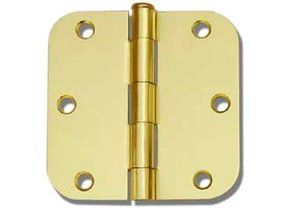 24 Polished Brass 3 5 X3 5 5 8 Radius Round Corner Interior Door Hinges By Ebuilderdirect 24 00 Interior Door Hinges Polished Brass Door Hinges