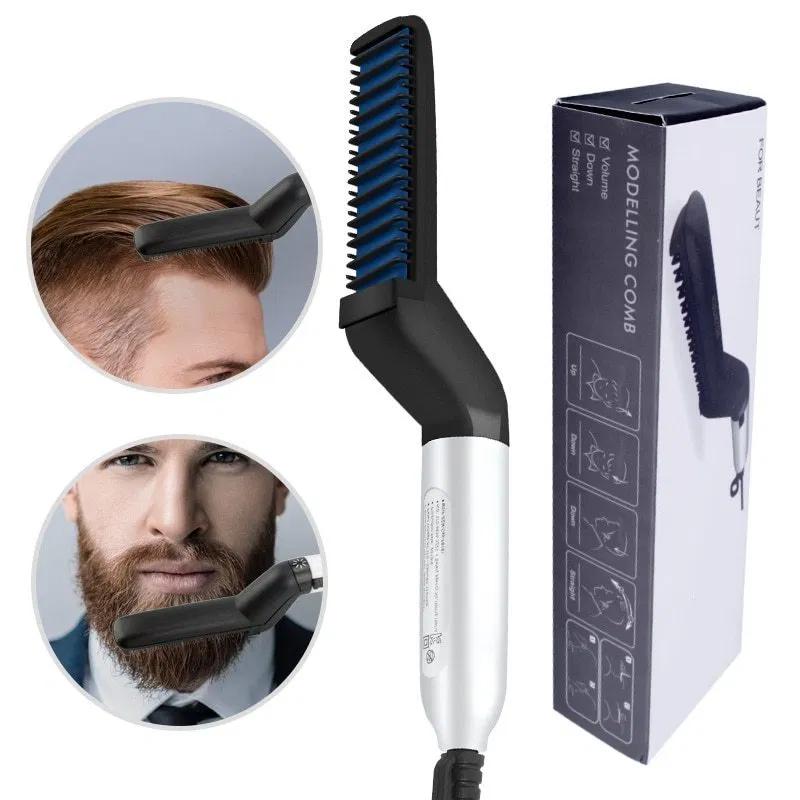 Multifunctional Hair Comb Brush Beard Straightener Olio Shoppe Beard Straightening Straightening Comb Hair And Beard Styles