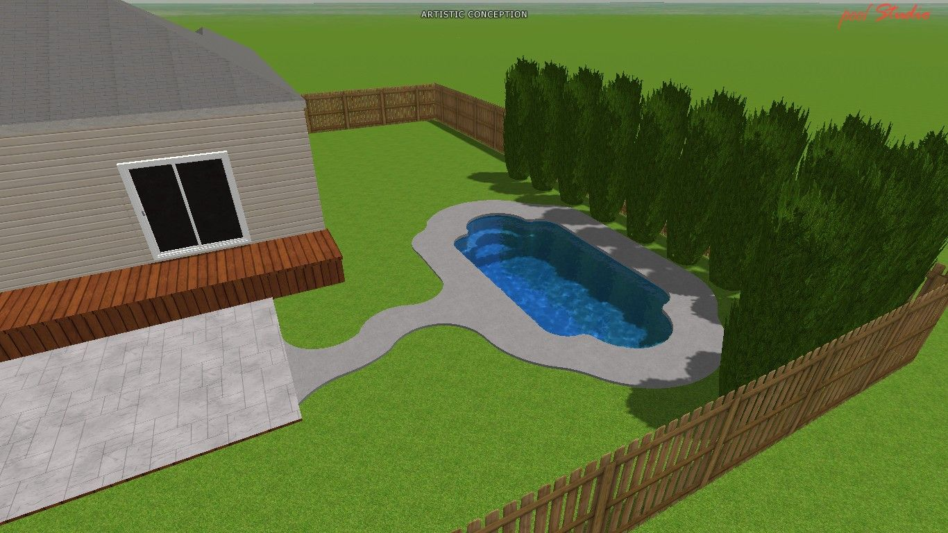 3d Roman Fiberglass Pool Design Artistic 3d Pool
