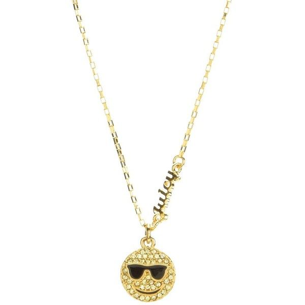 PAVE SMILEY FACE WISH NECKLACE ❤ liked on Polyvore featuring jewelry, necklaces, pave necklace, juicy couture necklace, juicy couture, juicy couture jewelry and pave jewelry