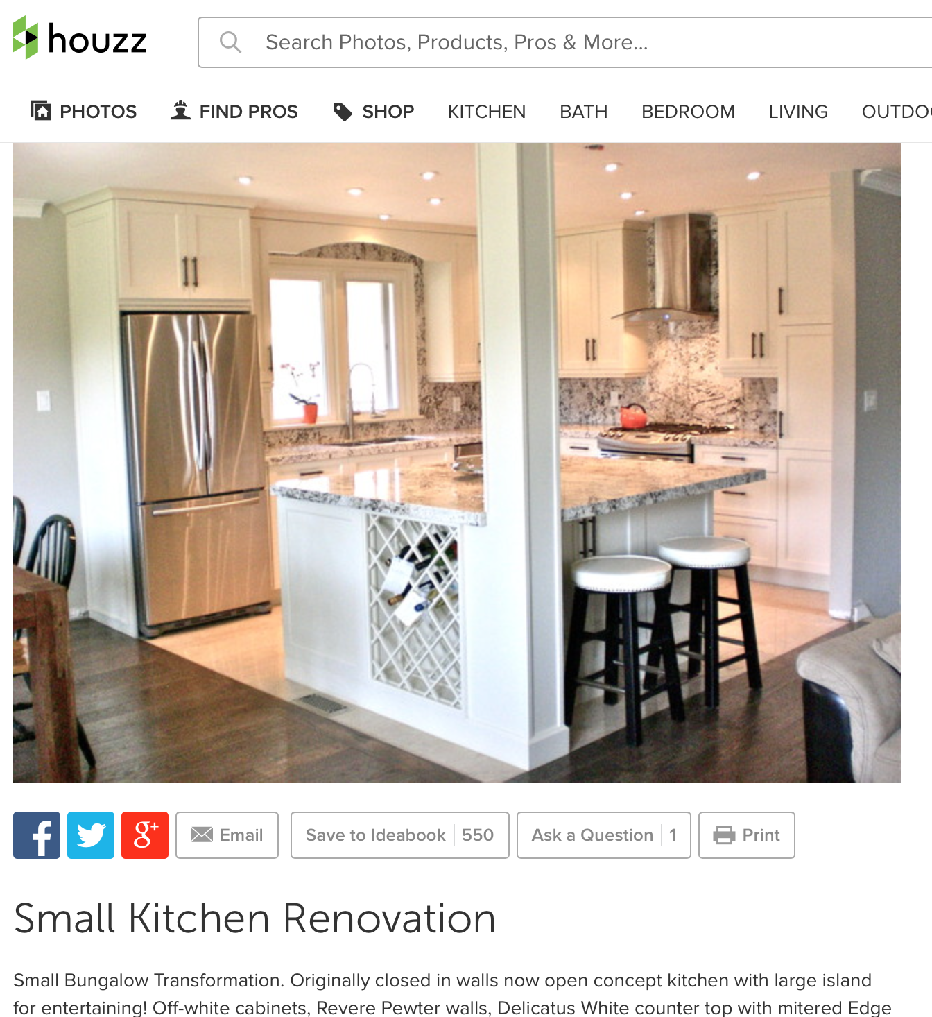 Kitchen Remodel With Open Concept Family Room: This Is IT!!! The Small Kitchen Reno I Have Been Looking
