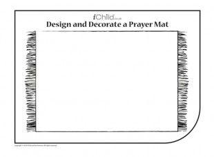 Decorate A Prayer Mat Ramadan Activities Islamic Kids Activities Prayers
