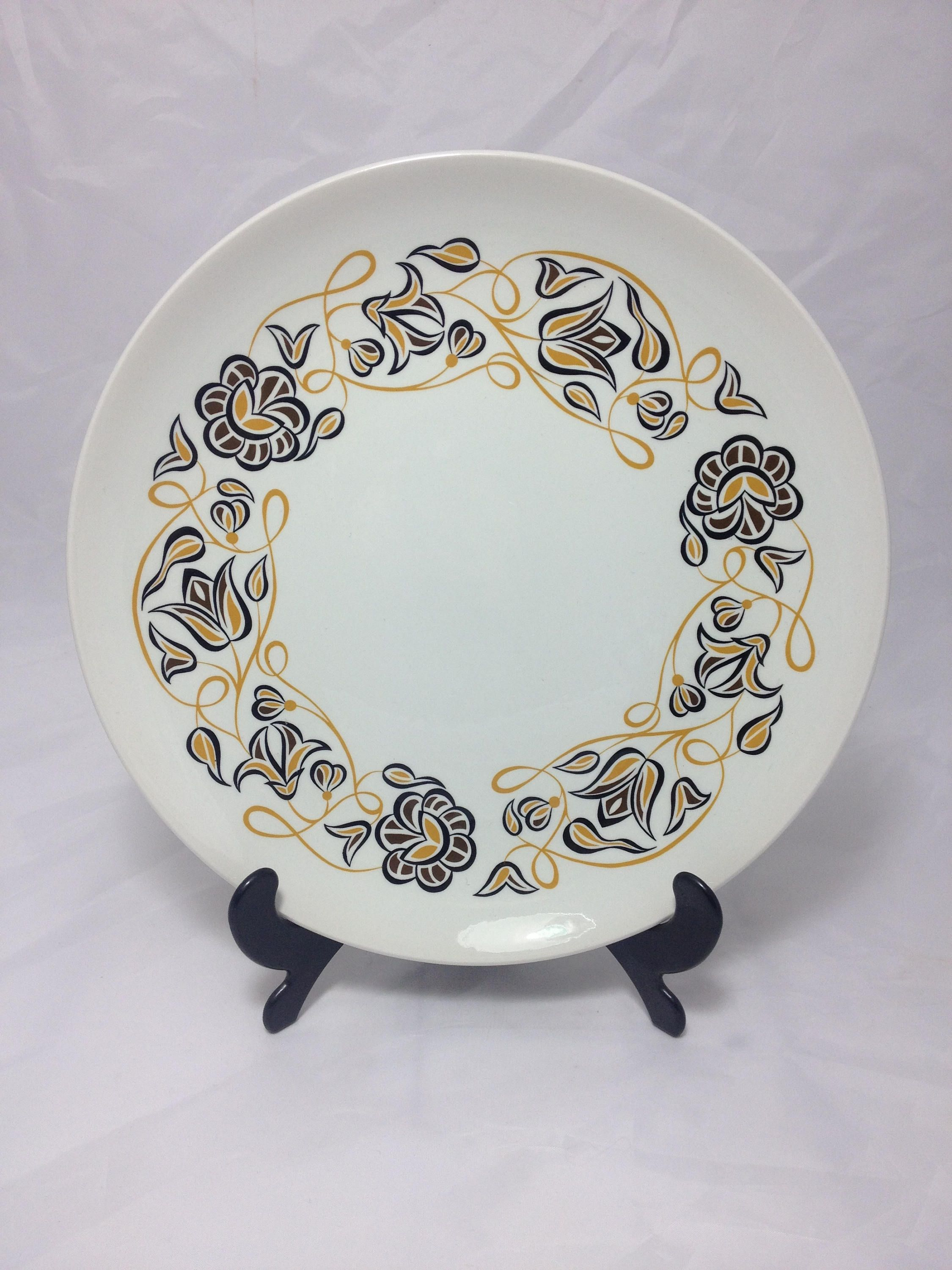 Poole Pottery Dinner Plate Desert Song Pattern Contour Shape Plate 1960\u0027s Mid Century Modern Vintage by & Poole Pottery Dinner Plate Desert Song Pattern Contour Shape Plate ...