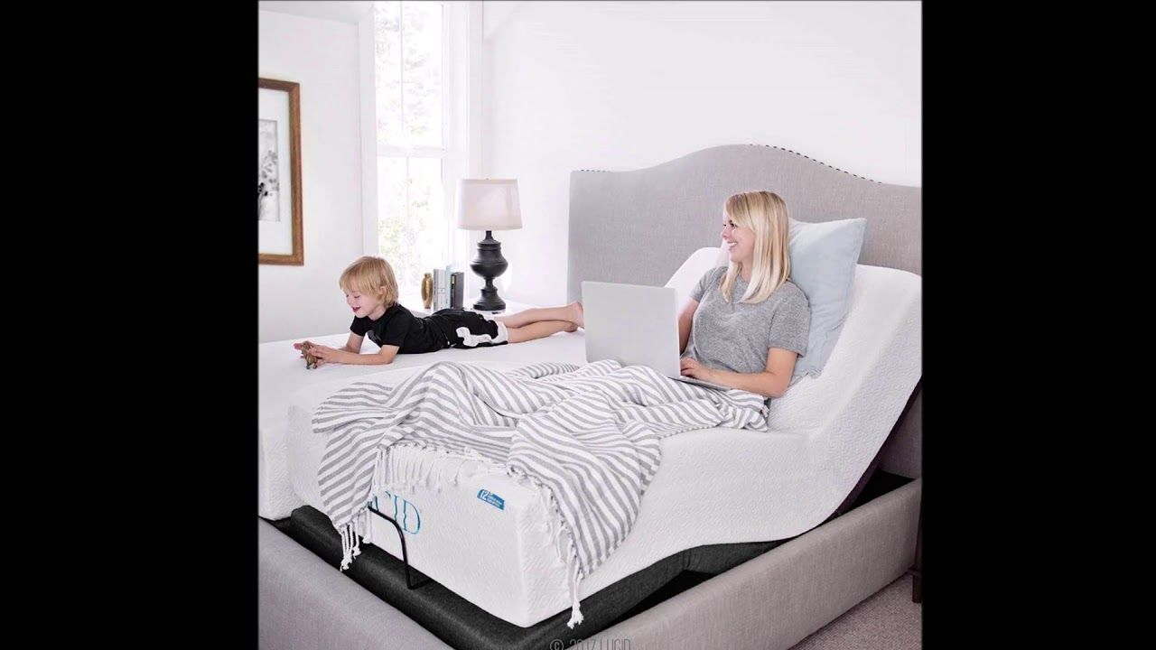 Lucid L300 Adjustable Bed Base 5 Minute Assembly Dual Usb Charging