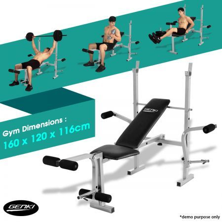 Genki Home Gym Weight Station Bench Press Multi Level Multi Station Home Gym Gym Weights Weight Benches