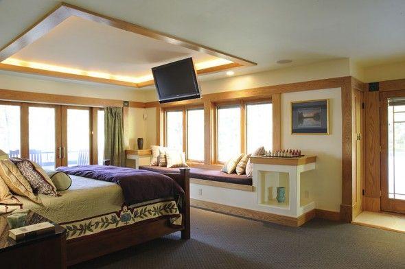 Deckenbeleuchtung Schlafzimmer ~ Led beleuchtung schlafzimmer fernsteher montage hängend miguel