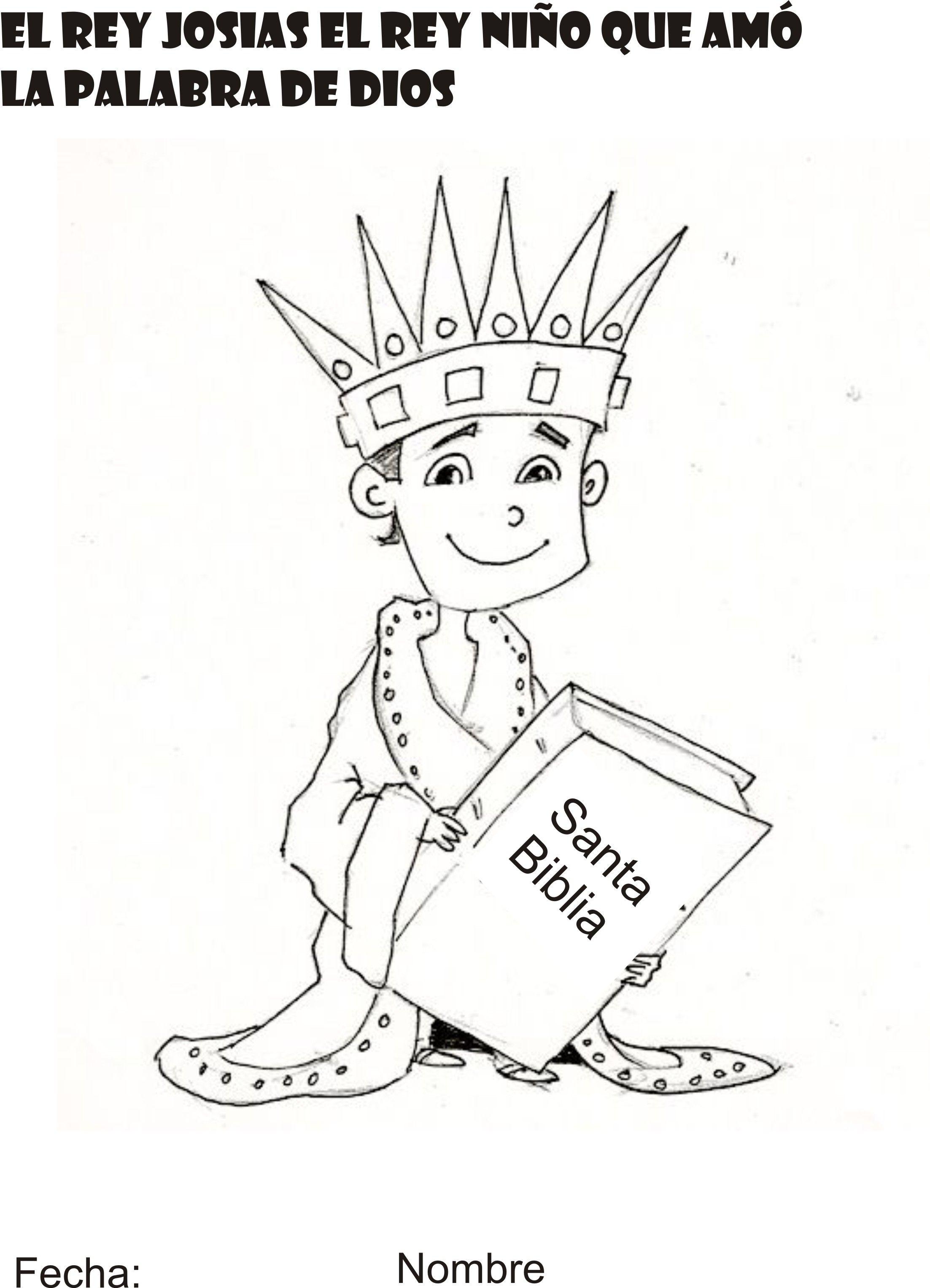 ELREY JOSIAS EL REY NIÑO | escuela biblica | Pinterest | Rey ...