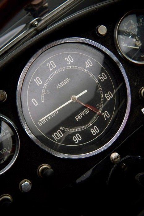 Classic Jaeger Tachymeter On A Ferrari Dashboard Cars Automobil