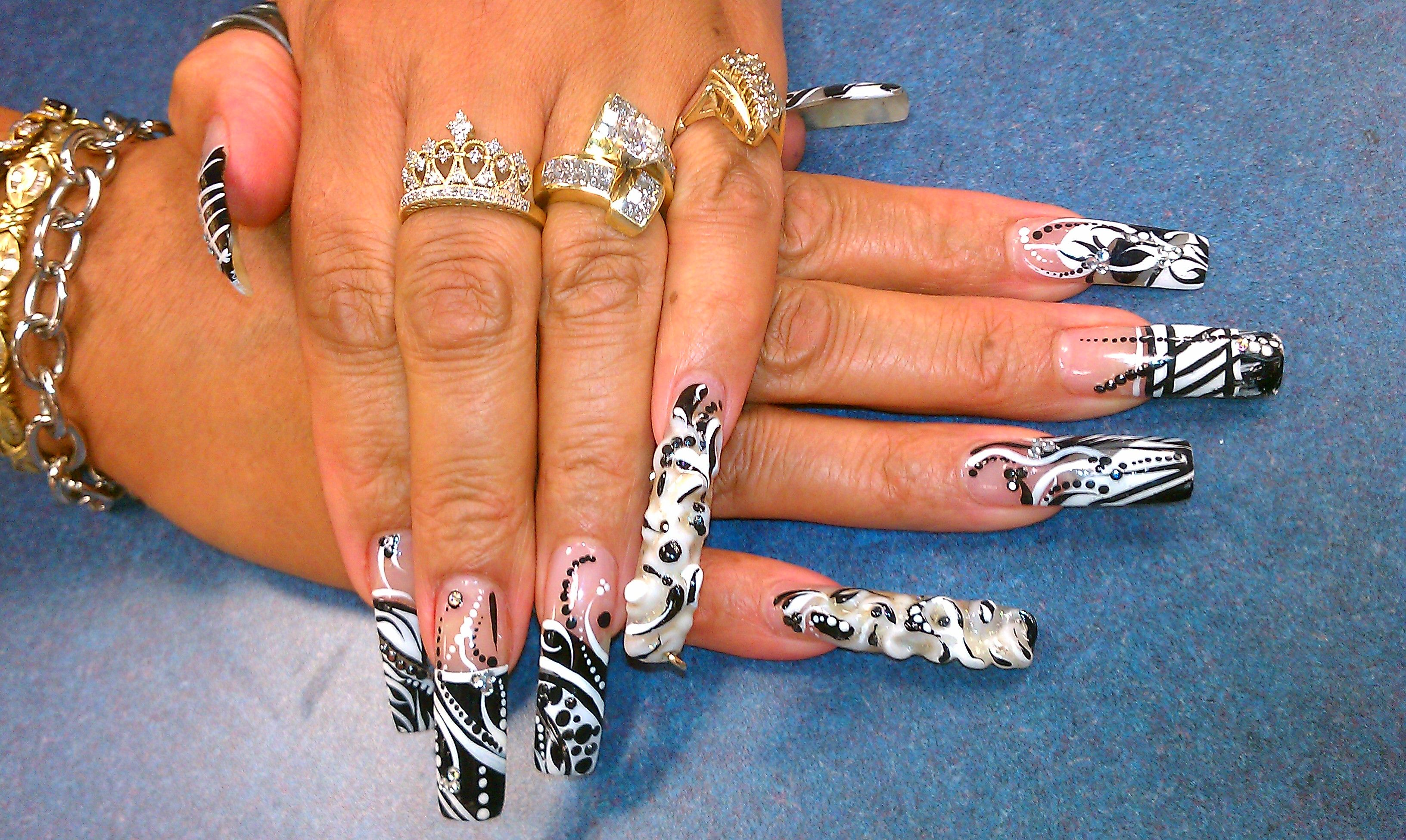 Black and white by joy of nails | Joy of Nails | Pinterest