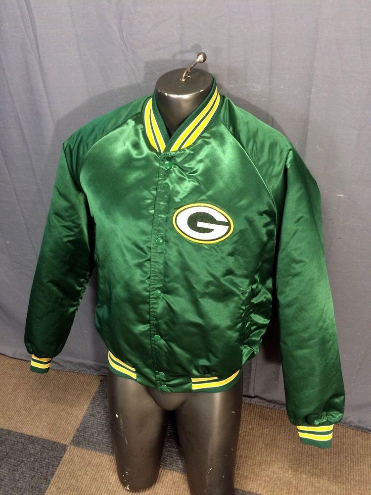 wholesale dealer e5db5 02e36 VINTAGE 80s CHALK LINE USA NFL PRO GREEN BAY PACKERS SATIN ...