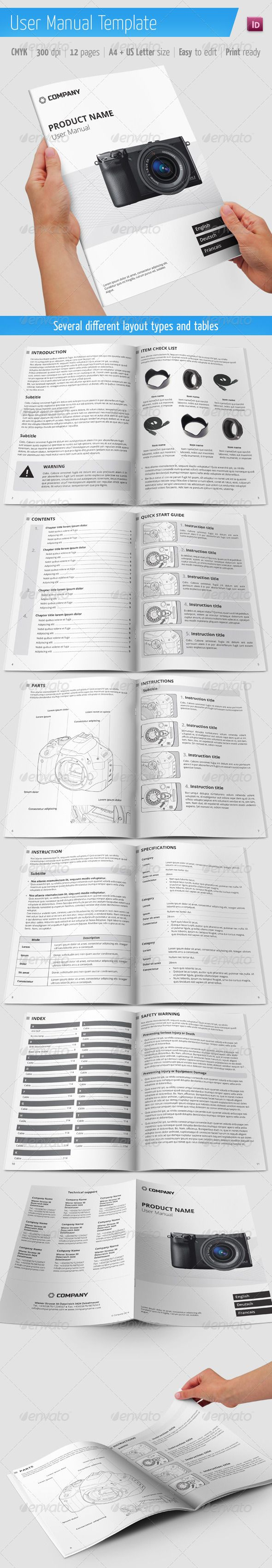 User Manual Template  Brochures Brochure Template And Template